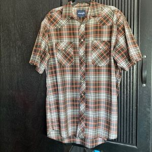 Men's Wrangler Snap Up Plaid Shirt XL